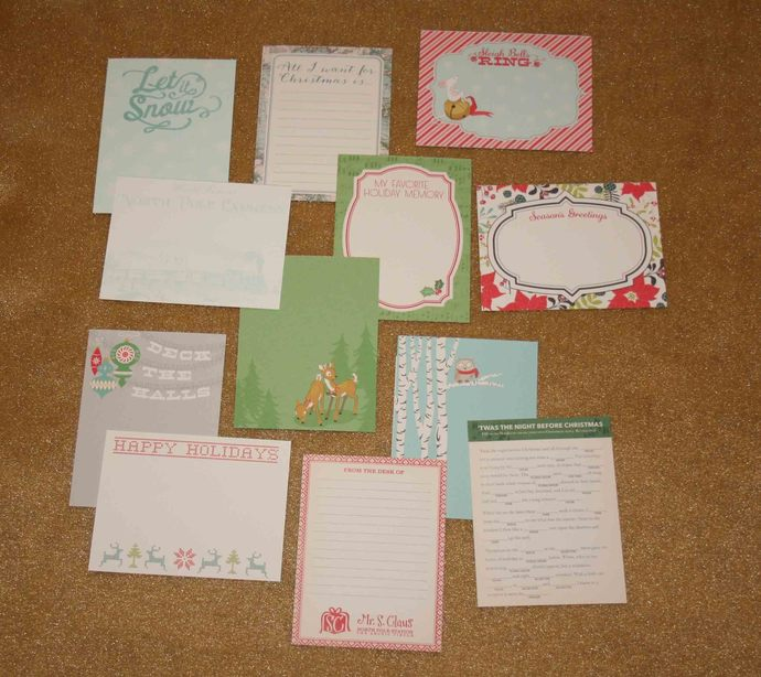 October Afternoon Christmas Silent Night Journal Cards #E-0047