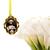 Custom bouquet charm in antique gold, custom wedding bouquet photo charm, medium