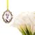 Custom bouquet charm in antique silver, custom wedding bouquet photo charm,