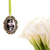 Custom bouquet charm in antique silver, custom wedding bouquet photo charm,