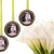 3  custom bouquet charms in antique silver, circle with scroll detailing, custom
