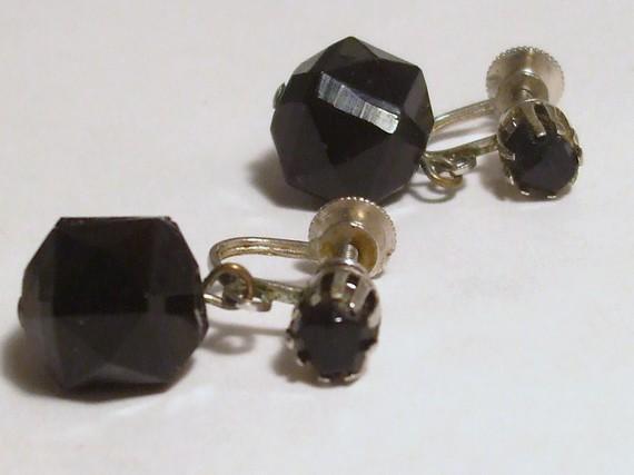 Vintage - Coro Black Earrings