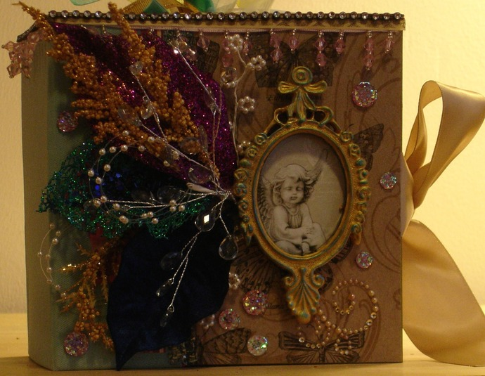 "Extravagant ""Fairy Whispers and Rhymes"" Mini-Photo Album Handmade OOAK"