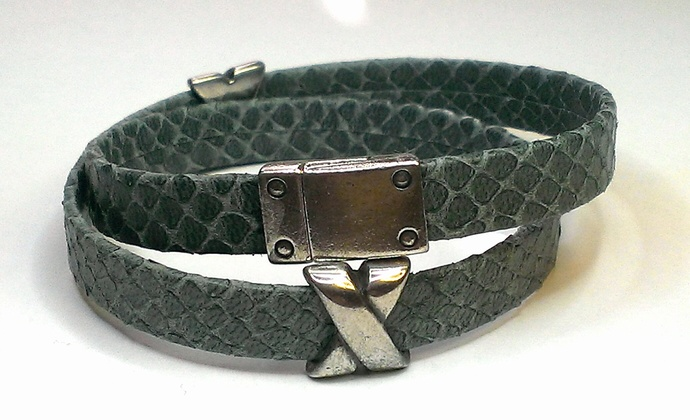 Egypitan Leather Wrap Bracelet, Item #1429