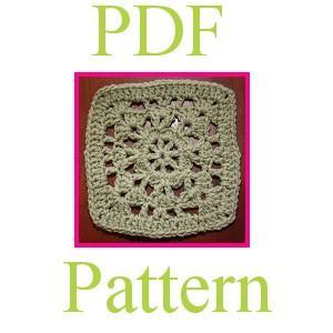 "PDF Crochet Pattern - 6 inch Granny Square ""Promise"""
