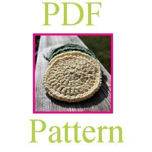 PDF Crochet Pattern - Soft Facial Scrubbie