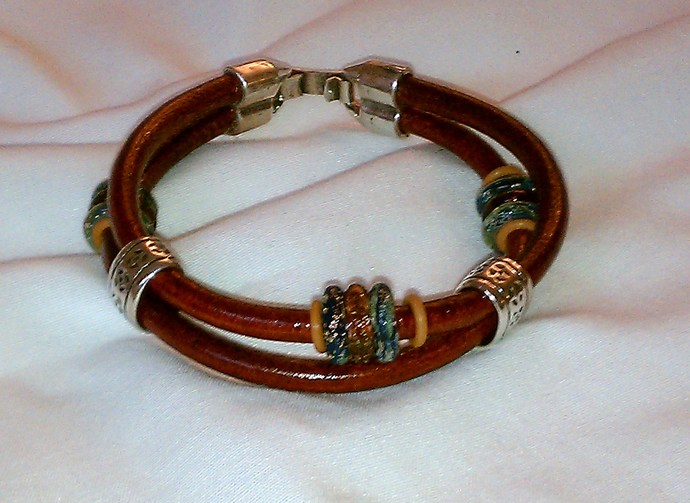 Euro Italian Leather Bracelet, Item #1431