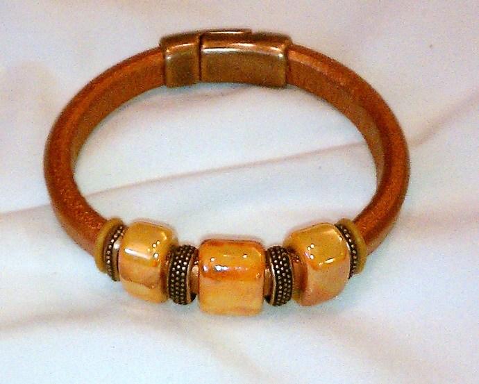 Regaliz Greek Leather Bracelet, Item #1432