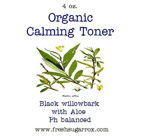 Organic Willowbark Toner- Calming, Acne Fighting