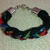 Black and Jewel Tones Braided Bracelet