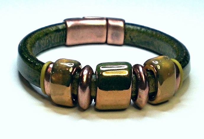 Regaliz Greek Leather Bracelet, Item #1439