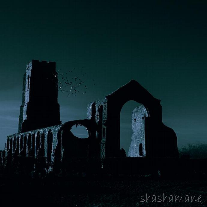 "The Ruins 5 x 5"" fine art photography print"