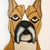 Wood Wall Hanging Dog, This Boxer is a  Wood Sculpture of a Magnificent Animal.