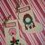 Mini Vintage/Primitive Christmas Stockings Decoration Gift #E-0054