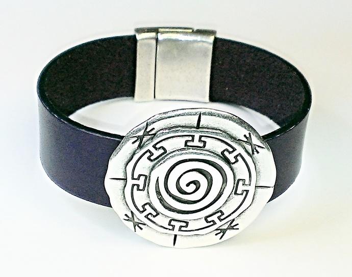 Euro Italian Leather Bracelet, Item #1452