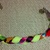 Neon Green and Multi-Color Braided Cotton Bracelet