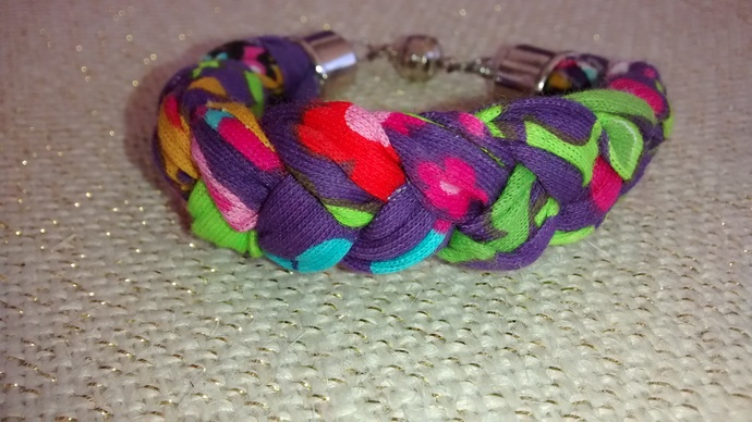 Multi-Colored Tones Braided Bracelet