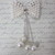 1pc Dangle Pearl Bow Bling - White/Silver