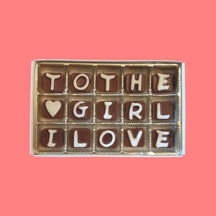To The Girl I Love Cubic Chocolate Letters Cool Valentines Day Anniversary Gift