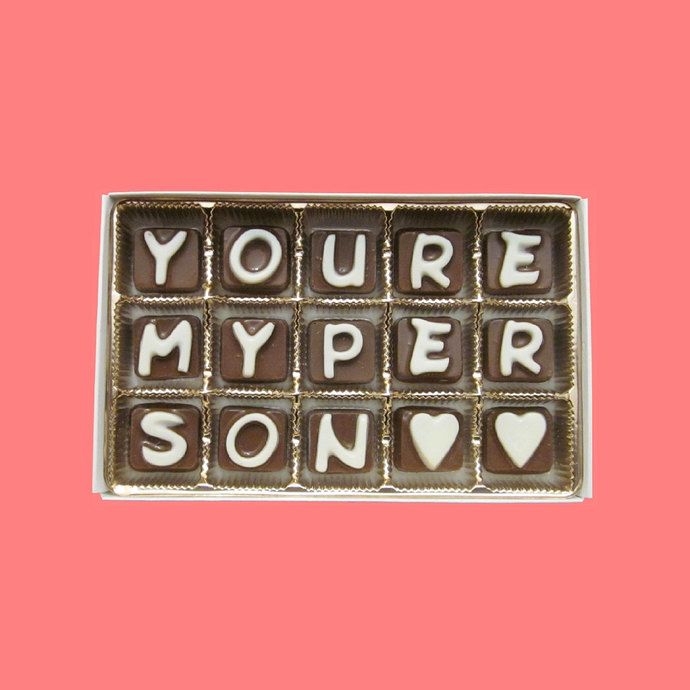 You Are My Person Chocolate Letters Romantic Valentines Anniversary Gift for Men