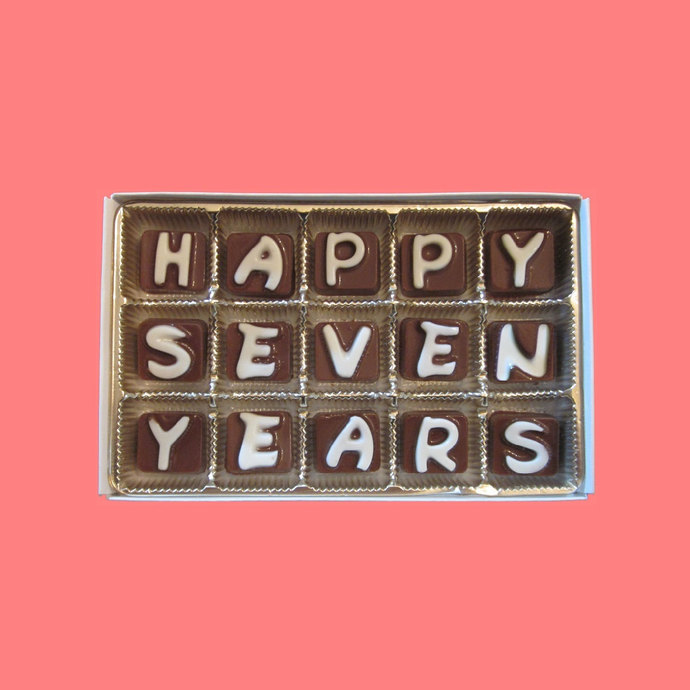 Happy Seven 7 Years Cubic Chocolate by What Candy Says on Zibbet