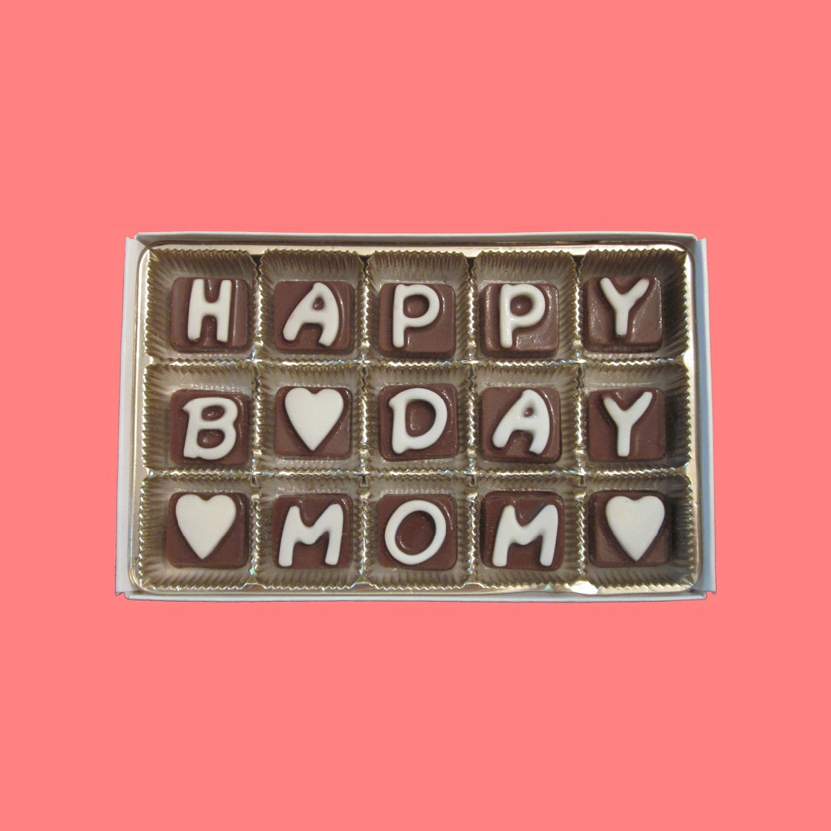 Happy Birthday Mom Cubic Chocolate Letters By What Candy Says On