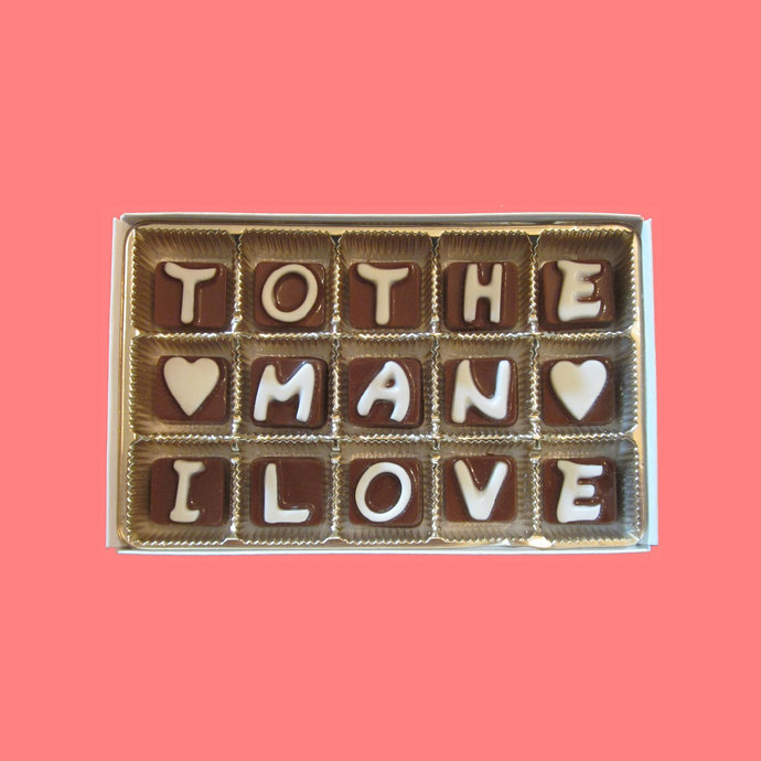 To The Man I Love Chocolate Letters Romantic Anniversary Gift for Boyfriend