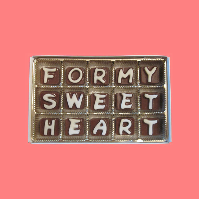 For My Sweet Heart Cubic Chocolate Letters Unique Valentines Day Gift Idea