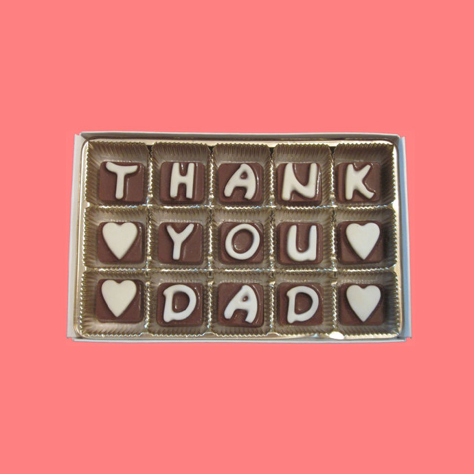 Thank you dad cubic chocolate letters by what candy says on zibbet thank you dad cubic chocolate letters birthday appreciation holiday thanksgiving spiritdancerdesigns Image collections