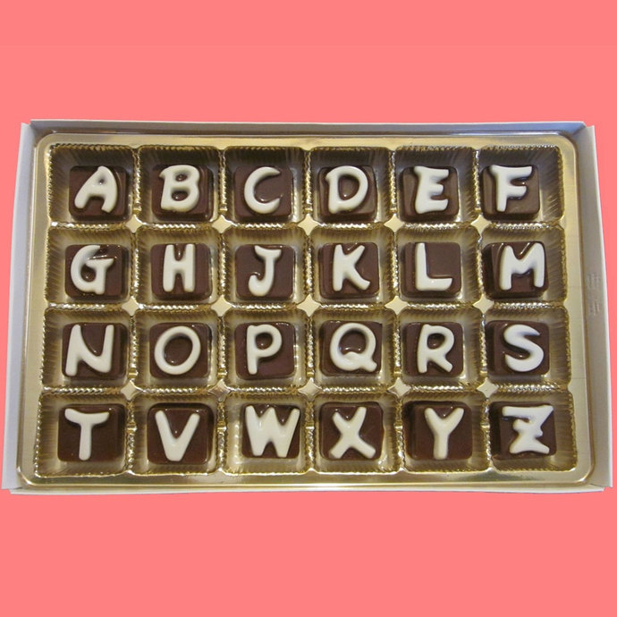 I Miss You Cubic Chocolate Letters Secret Message Puzzle Fun Long Distance Gift
