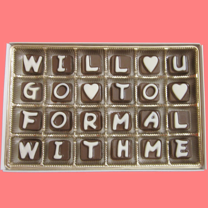 Will You Go To Formal With Me You Chocolate Letters Cool Funny Cute Fun Creative