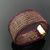 Elegant violet and golden wire knit double layer bracelet