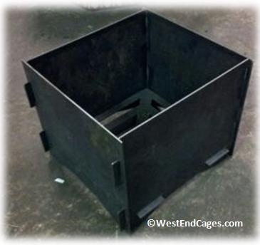Collapsible Custom Fabricated Fire Pit By Westendcages On