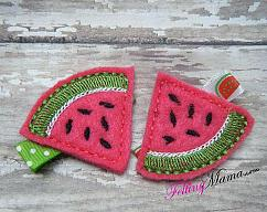 Clothing, Shoes, Accessories Felt New Hair Clip Watermelon Set Handmade Sufficient Supply