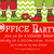 Tacky Sweater Party Invitation Chevron Red Chalkboard Uly Sweater Offfice Party