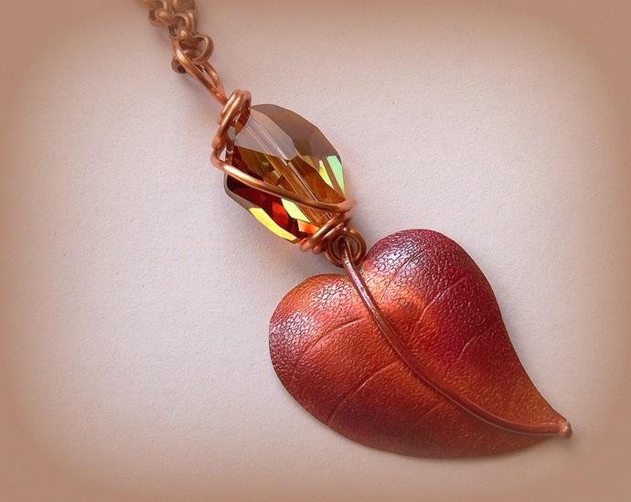 Necklace Falling Leaf