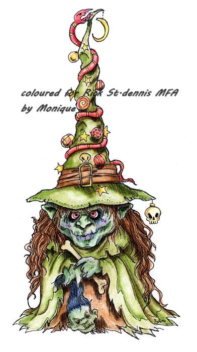 Witch Tree digi stamp