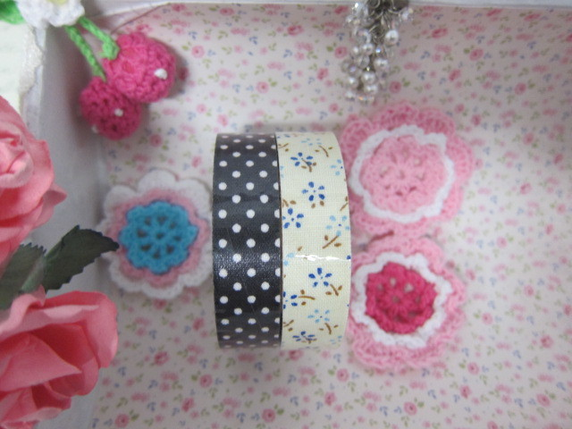 "2pcs Self Adhesive Fabric Washi Tape 5/8"" #12"