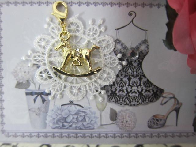 Royal Rocking Horse Charm - Gold