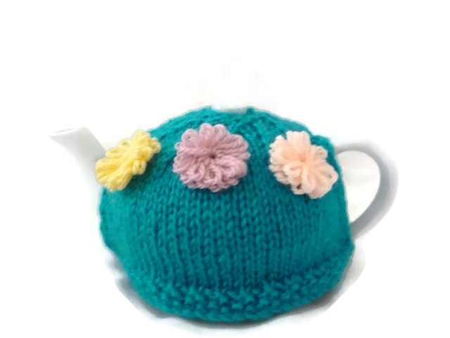 Teapot Cozy with Flowers - 2 Cup