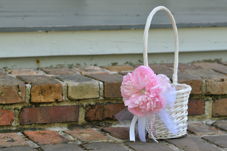 Flower Girl Basket Wedding Basket By Willowlaneboutique On Zibbet