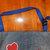 Handmade and Hand Painted Denim Upcylced  Adult Bib