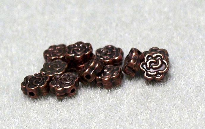 Copper Celtic Rose- spacer bead