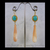 Peruvian Aqua Amazonite and Apricot Trumpet Shell 24k Gold Vermeil Long Dangle