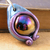 Metallic blue and purple steampunk dragon egg pendant