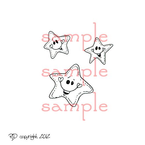 HAPPY STARS Digi Stamp