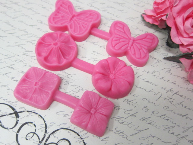 3 Spring Flower, Butterfly Silicone mold Soft Silicone Mold Fondant Mat Cake