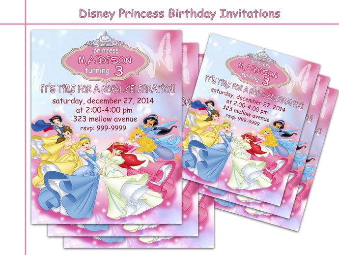 Amazing disney princess birthday by holidaypartystar on zibbet amazing disney princess birthday invitations party personalized princess filmwisefo
