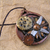 Steampunk gears and compass bezeled pendant