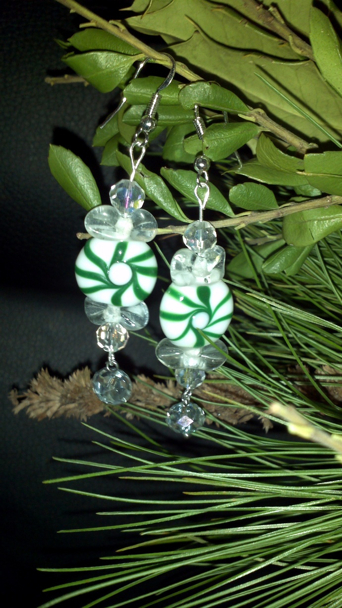 Mint Candy Sparkle Earrings